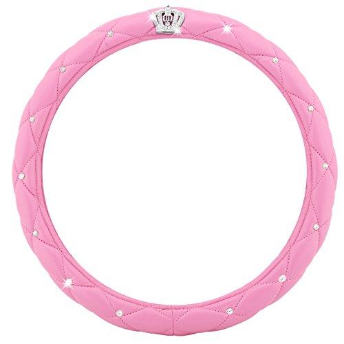 Car Steering Wheel Cover Anti-Slip Diamond Queen Godness 38 CM (Pink queen)