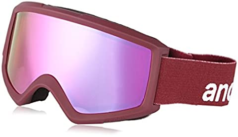 Anon Helix 2.0 Snow Goggles Merlot With Pink Sq Mirror & Amber Lens - Anon Helix Snowboard Goggles