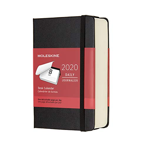 "Moleskine Classic 12 Month 2020 Daily Planner, Hard Cover, Pocket (3.5"" x 5.5"") Black"