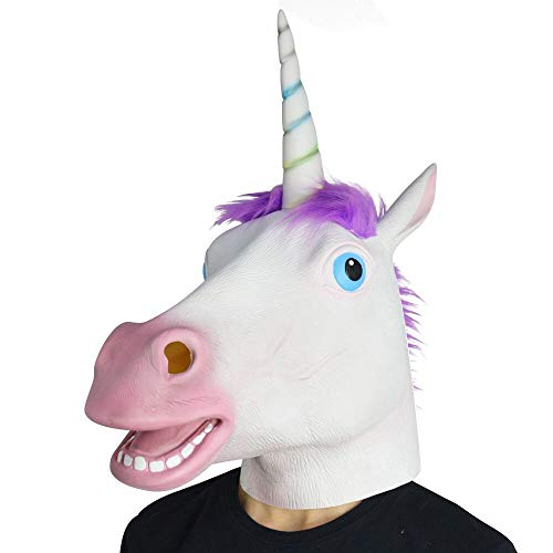 Amazlab Unicorn Mask for Halloween Costume Party Decorations, Halloween Props, Halloween Supplies