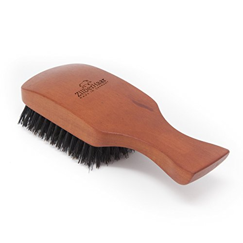 ZilberHaar Major - Hair & Beard Brush - Natural Boar Bristles and Pear Wood - All Beard and Hair Types - Best for Medium to Thick, Long Beards - A - Beard Hair Types Of