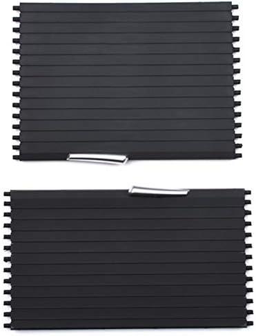 TOOGOO Car Center Console Cover Slide Roller Blind Auto Supporti Supporti per Bevande per X5 E70 X6 E71 2008-2014 Coppa dAcqua Rack Car Styling Sezione Posteriore Sezione Posteriore