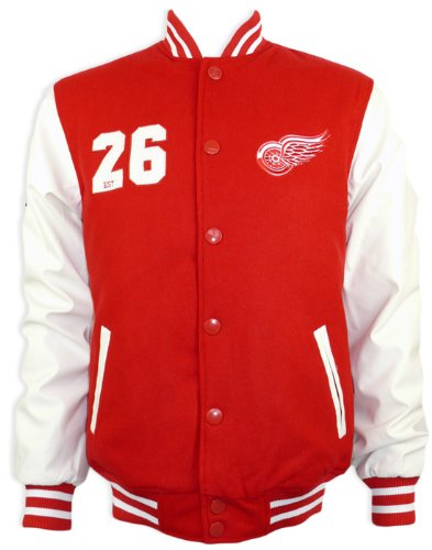 Majestic Detroit Red Wings Letterman NHL Jacke