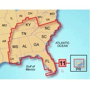 GARMIN US TOPO 100K SOUTHEAST & PUERTO RICO MICROSD W/ADAPT.
