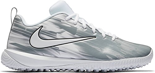 NIKE Men's Vapor Varsity Turf Lacrosse Cleats (9, White/Grey) by NIKE
