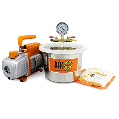 BACOENG 1 1/2 Gallon Vacuum Chamber Kit with 3.6 CFM 1 Stage Vacuum Pump HVAC by BACOENG (Image #8)