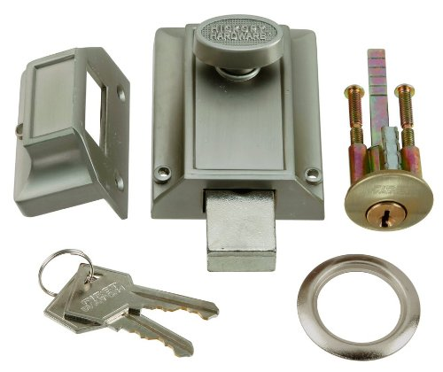First Watch Security 1110-SN Night Locking Cylinder Door Bolt (Watch Hickory)