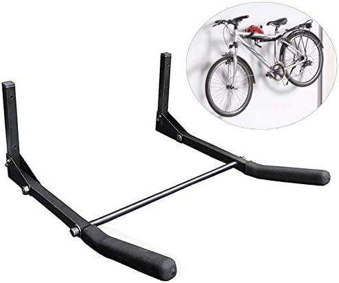 Toolwiz 自転車ラック ガレージ 壁掛け 自転車フック ハンガーホルダー 収納ネット付き