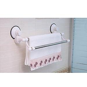 powerful suction cup bathroom towel railsrack