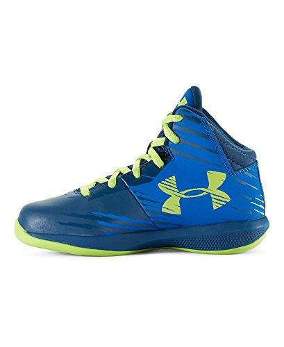 Under Armour Kids' Pre-School UA Jet Basketball Shoes 2.5 PETROL BLUE