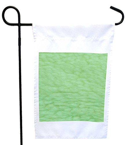 Rikki Knight Mint Green Sherpa Fleece Look House or Garden Flag with 11 x 11-Inch Image, 12 x 18-Inch (Sherpa House)