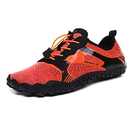 LIBINXIF Womens Mens Athletic Water Shoes Walking Creek Hiking Quick-Dry Aqua Pool Socks Barefoot for Outdoor Beach Swim Surf Yoga Orange 38