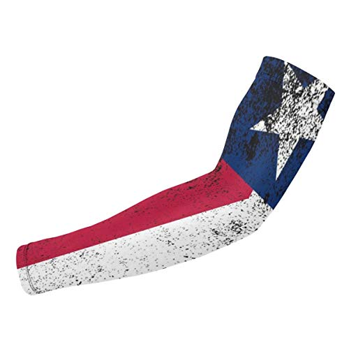 Dht54U-1 Unisex Texas State Flag Arm Guard, Washable Sports Compression Sleeves for Cycling (1 ()