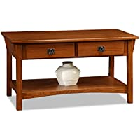 Mission Two Drawer Coffee Table - Russet Finish