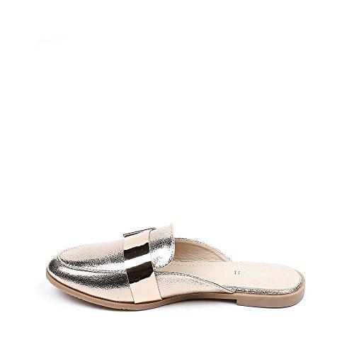 Ideal Shoes, Damen Zehentrenner Champagne