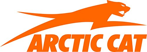 Jumping Arctic Cat Decal Sticker (Orange) ()