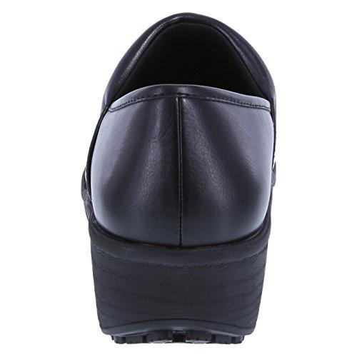 Slip Gretchen Clog Resistant Black Women's safeTstep B8Zgqg