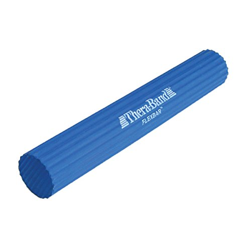 Hygenic Rubber Tubing (TheraBand FlexBar, Tennis Elbow Therapy Bar, Relieve Tendonitis Pain & Improve Grip Strength, Resistance Bar for Golfers Elbow & Tendinitis, Blue, Heavy, Advanced)