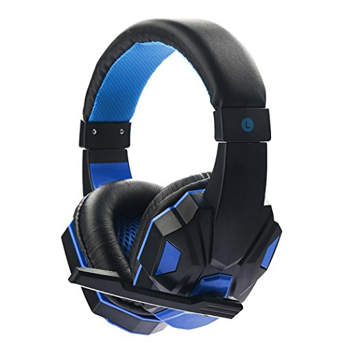 YJYdada Surround Stereo Gaming Headset Headband Headphone 3.5mm with Mic for PC (Blue) (Partner Tech Pc Laptops)