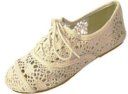 Shoes 18 Womens Crochet Oxfords Flat Shoes Lace Up 4 Colors