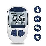 Denshine Diabetes Testing Kit Electronic Bloodless Glucose Meter Glucometer Digital Handheld Blood Glucose Monitor Diabetes Test Meter Monitor Kit with 50 Test Strips