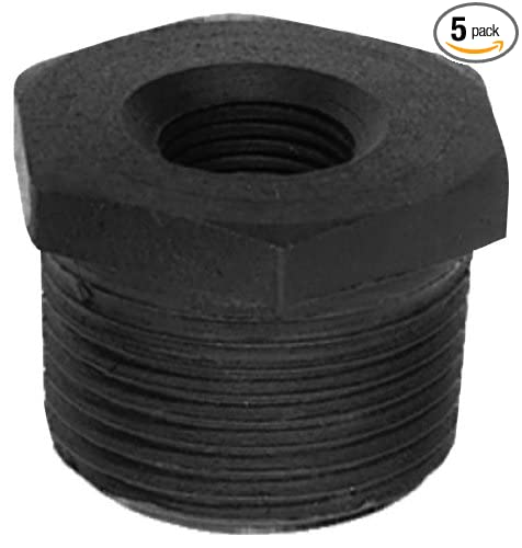 5-Pack Plumbers Choice 93700 2-Inch x 1//2-Inch Black Fitting with Hex Bushings