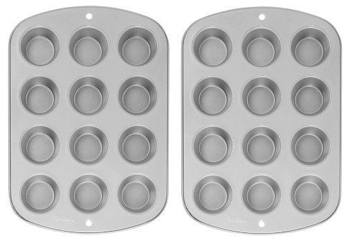 Wilton Recipe Right Nonstick 12-Cup Regular Muffin Pan (Pack of 2) ()