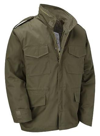 giacca militare imbottita kaki uomo