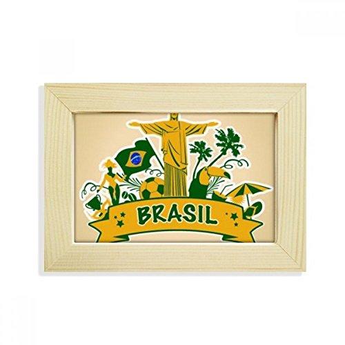 DIYthinker Soccer Mount Corcovado Parrot Brazil Desktop Wooden Photo Frame Picture Art Painting 5x7 inch by DIYthinker