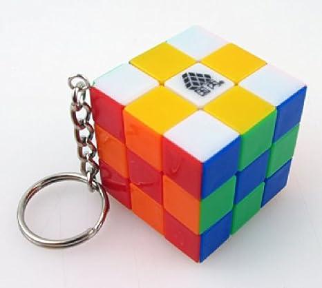 Tipo C Mini 3 x 3 x 3 Cubo Puzzle Llavero Mini 3 cm Llavero ...