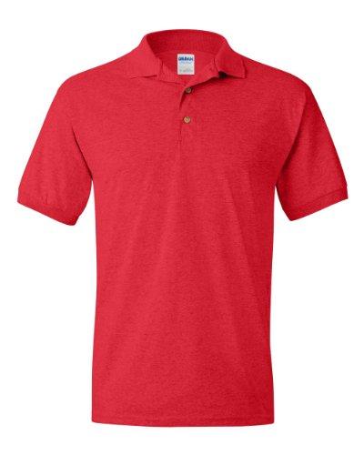 Adult Fashion Polo (Gildan G8800 Adult 5.6 oz. DryBlend 50/50 Jersey Polo - Red - M)