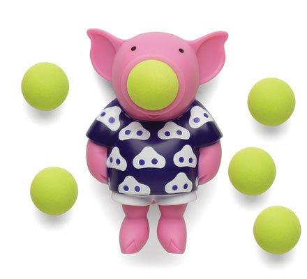 Hog Wild Pig Popper Toy - Shoot Foam Balls Up to 20 Feet - 6 Balls Included