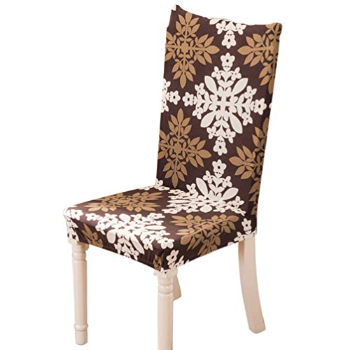 Stretch Dining Chair Cover, Washable Universal Four Seasons Available Seat Slipcover for Banquet Office Hotel - Pattern 3