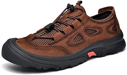 ウォーキングシューズ メンズ ハイキングシューズ 走れる 防滑 紳士靴 革靴 大きいサイズ レースアップ カジュアルシューズ 幅広 疲れにくい コンフォートシューズ ライトトレッキングシューズ 歩きやすい 登山靴