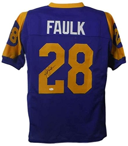 Marshall Faulk Autographed Jersey - Los Angeles XL Blue 19016 - JSA Certified - Autographed NFL Jerseys