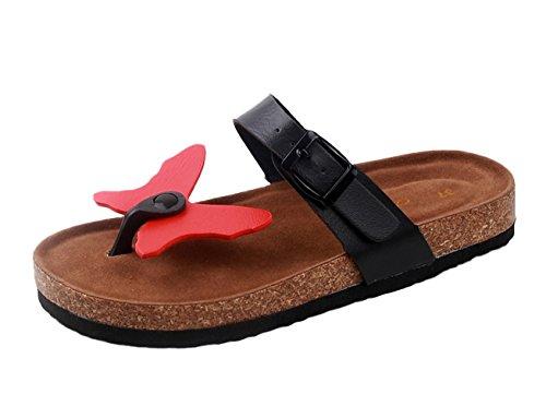 SK Studio - Zapatillas de estar por casa para hombre rojo (Red Butterfly)