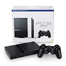 Sony Playstation 2 Black Console Slim