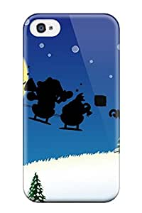 Hard Plastic Iphone 4/4s Case Back Cover,hot Holiday Christmas Case At Perfect Diy