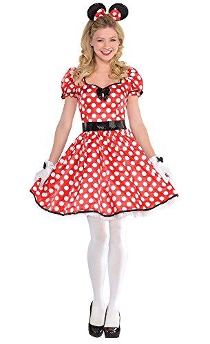 HalloCostume Adult Sassy Minnie Mouse Costume (Adult Sassy Minnie Mouse Costumes)