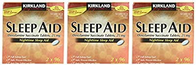 Kirkland Signature Sleep Aid Doxylamine Succinate 25 Mg, 192-Count (Pack of 3)