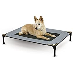 "K&H Pet Products Original Pet Cot Elevated Pet Bed Large Gray/Mesh 30"" x 42"" x 7"""
