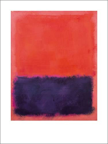 Kunstdruck   Poster Mark Rothko - Untitled, 1960-61 - 60 x 80cm - Premiumqualität - Abstrakte Malerei, abstrakter Expressionismus, Farbfelder, verschwommen, monochrome Farbflächen - MADE IN GERMANY - ART-GALERIE-SHOPde