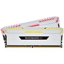Corsair Vengeance RGB 16GB (2x8GB) DDR4 3200 (PC4-25600) C16 Desktop memory for Intel 100/200 - White PC memory CMR16GX4M2C3200C16W