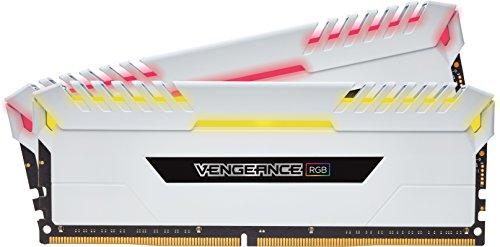 CORSAIR Vengeance RGB 16GB (2x8GB) DDR4 3200MHz C16 Desktop Memory – White