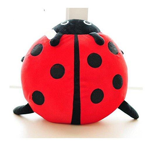 Dongcrytal 15.7 Inches Ladybug Plush Pillow Stuffed Animal Plush Toy