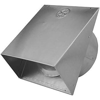 Builder's Best 011641 Heavy Gauge Wall Vent Hood with Spring Loaded Damper, 6