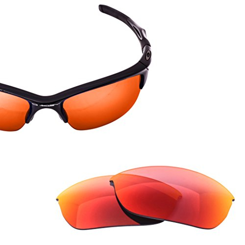 LenzFlip Replacement Lenses for Oakley HALF JACKET 2.0, Gray Polarized with Red - Oakley Lenses Replace Will