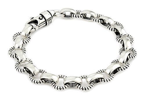 Twisted Blade 925 Sterling Silver Round Rope Link Bracelet 7'' by Buy For Less