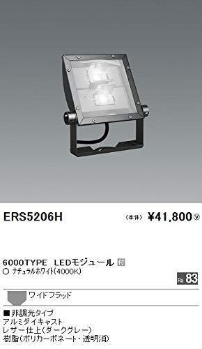 ENDO LEDアウトドアスポットライト(看板灯) CDM-TP150W相当 ナチュラルホワイト4000K 防湿防雨形 看板用配光 ダークグレー ERS5206H (ランプ付電源別売)   B07HQ9Z6GX