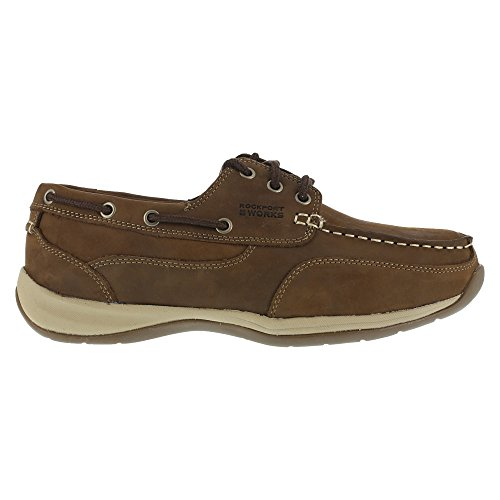 Club Brown Leather - Rockport Womens Brown Leather Casual Boat Shoes Sailing Club Steel Toe 9 M
